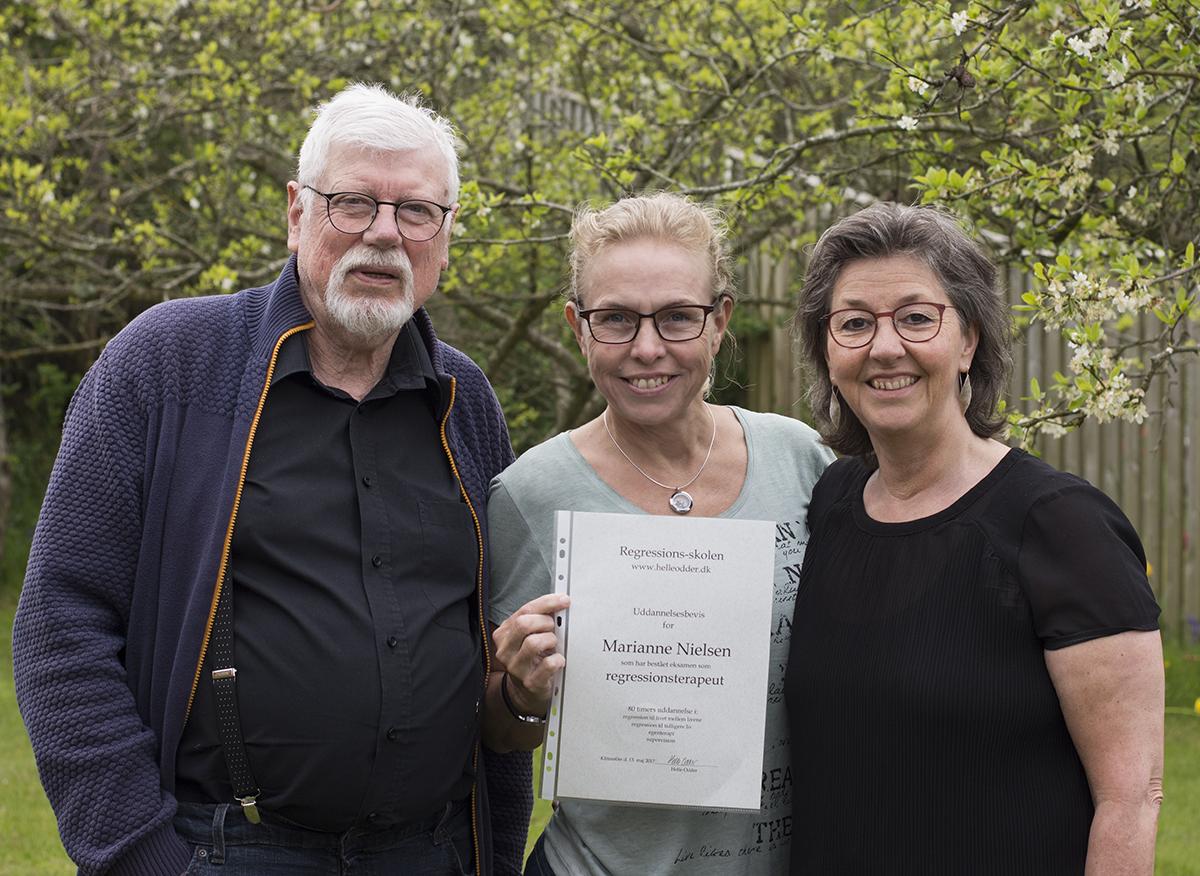Uddannet Regressionsterapeut hos Helle Odder og gæstelærer Rud Grandt